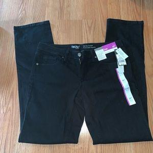 NWT Mossimo Straight Leg Black Denim Jeans 8/29R